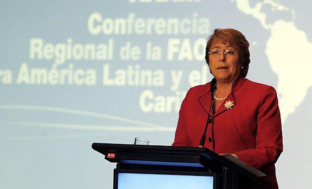 Bachelet inauguró Conferencia de la FAO