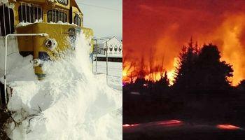 Nieve y fuego: el clima extremo se impone en Bariloche y Mendoza