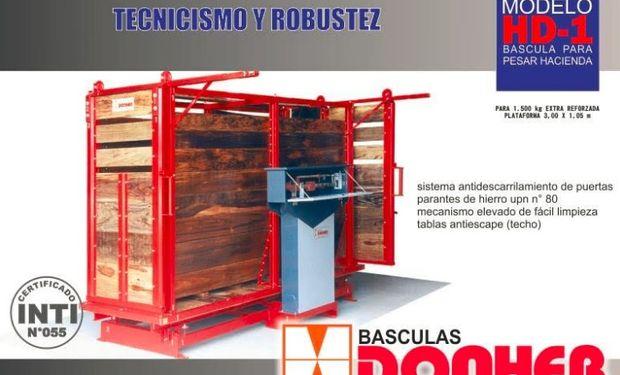 Báscula para pesar hacienda capacidad para 1.500 kg. mecánica: modelo HD-1.