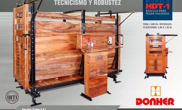 Báscula para pesar hacienda capacidad para 1.500 kg. mecánica: modelo HDT-1