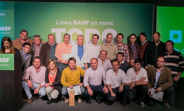 BASF premió a los ganadores del 18º Concurso Máximos Rendimientos en Maní.