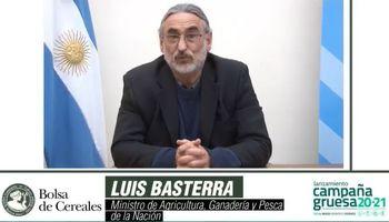 Lanzamiento campaña: sin novedades sobre la devolución de retenciones, Basterra se refirió al tema insumos y circulación