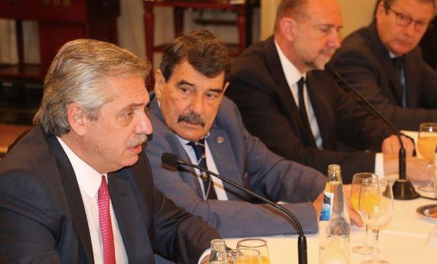 Alberto Fernández se reunió con autoridades de la BCR.