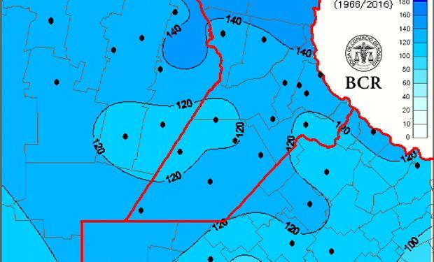Las medias históricas de las lluvias de diciembre de los últimos 60 años están en alrededor de 120 mm.