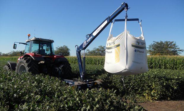 Big Bags de 800 kilos de soja. Foto: Agroagencia.