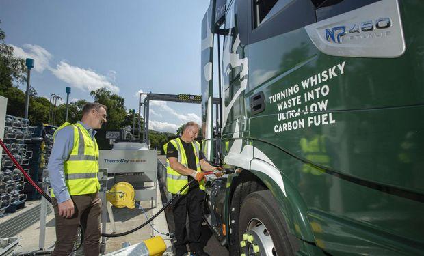 Lo que queda del whisky, al camión: la estrategia de Glenfiddich para reducir las emisiones