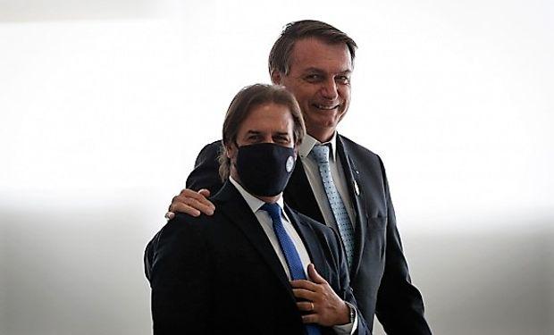 Luis Lacalle Pou y Jair Bolsonaro. Foto: Pablo Jacob (O Globo/GDA)