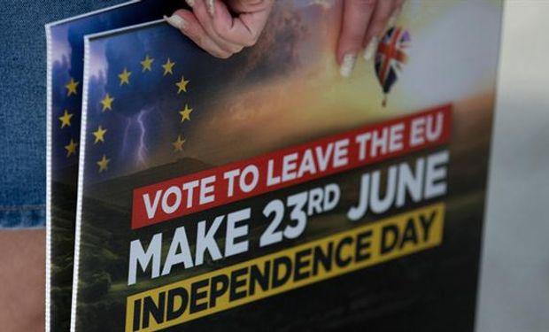 """El """"Brexit"""" se impuso con un 52% a favor."""
