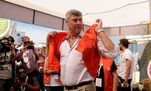 Ricardo Buryaile, ministro de Agroidustria, en Expoagro. Foto. Maxi Failla