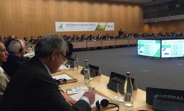 El Ministro reconoció el trabajo realizado por la OCDE sobre políticas agrícolas.