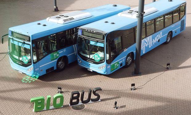A partir de ahora, 400 colectivos urbanos de Rosario comenzarán a funcionar con biocombustibles.
