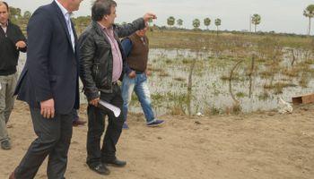 Buryaile recorrió zonas inundadas en Corrientes