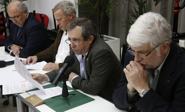 Rodolfo Rossi, Matías Ferreccio, Luis Arias y Alberto Morelli. Foto: LA NACION / Fabian Marelli