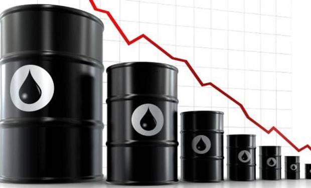 """El valor del barril de """"light sweet crude"""" (WTI) para entrega en abril cedió 1,6% (o 70 centavos) a u$s 43,96 al cierre de las operaciones."""