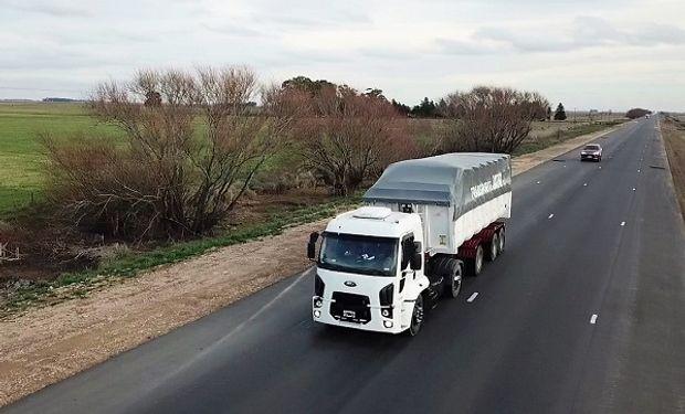 Ensayo de camiones en Olavarria.