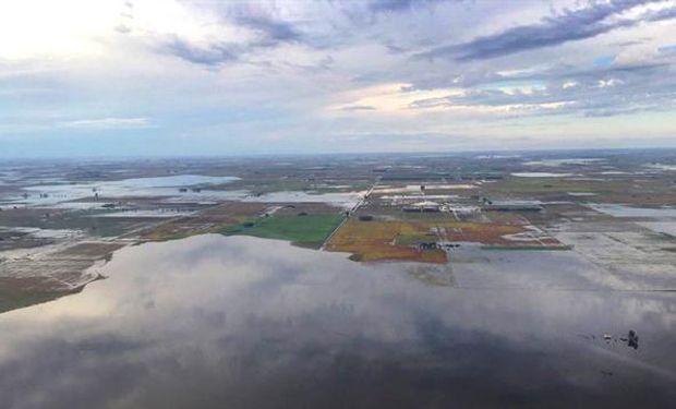 Miles de hectáreas inundadas en la zona de Bunge, en General Villegas.