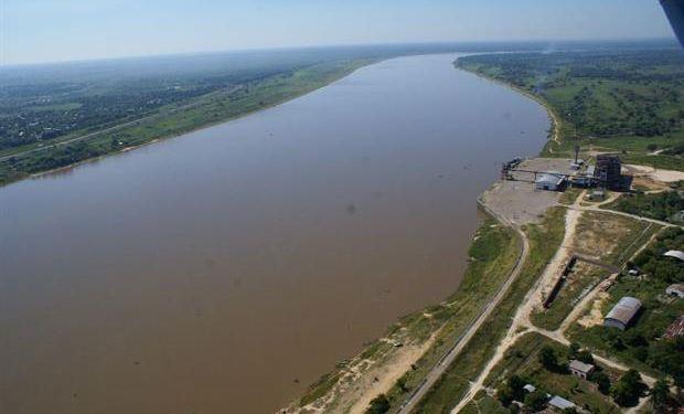 Traza del Río Paraguay donde comenzaría el acueducto. Foto: Gentileza Justo Urbieta.