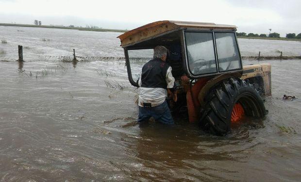Campo inundado en Máximo Paz, Santa Fe.