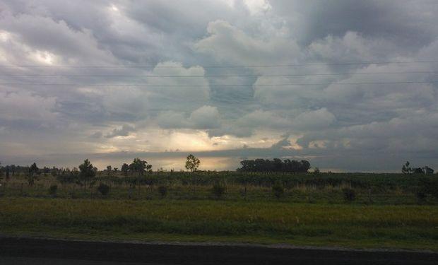 Tiempo: aumentan las probabilidades de lluvias en el este de la zona núcleo