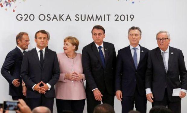 Macri junto a líderes globales de ambos bloques.