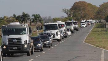 Caravana de transportistas lácteos
