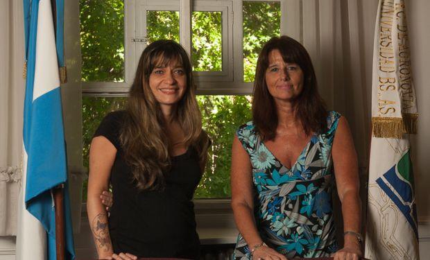 De izquierda a derecha: Carina Álvarez (subsecretaria Académica de la FAUBA) y Marcela Gally (vicedecana de la FAUBA).
