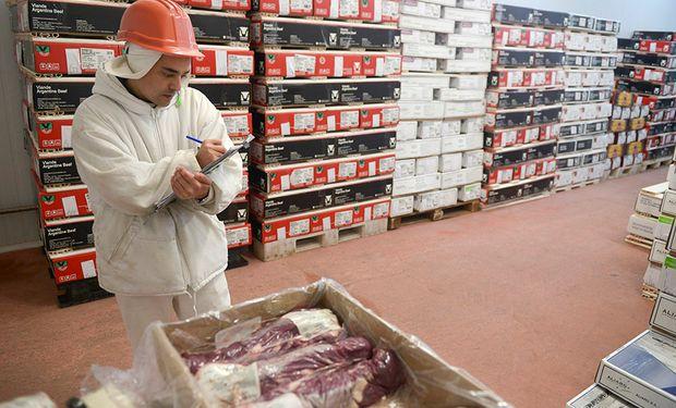 Exportación argentina de carne bovina.