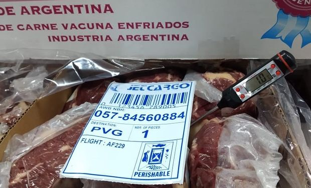 Argentina exportó a China ojo de bife enfriado y envasado al vacío