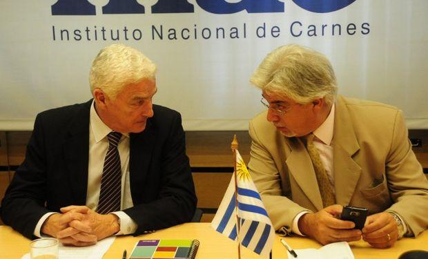 El presidente del Instituto Nacional de Carnes (INAC), Federico Stanham y el Ministro de Ganadería, Agricultura y Pesca (MGAP), Tabaré Aguerre.