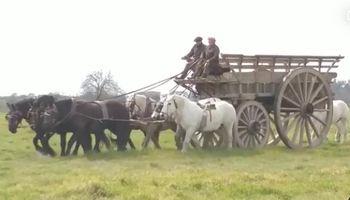 Video: así arrancó la carreta de los gauchos que viajará el 9 de julio a San Nicolás