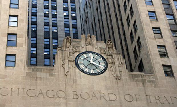 Subas para la soja en Chicago.