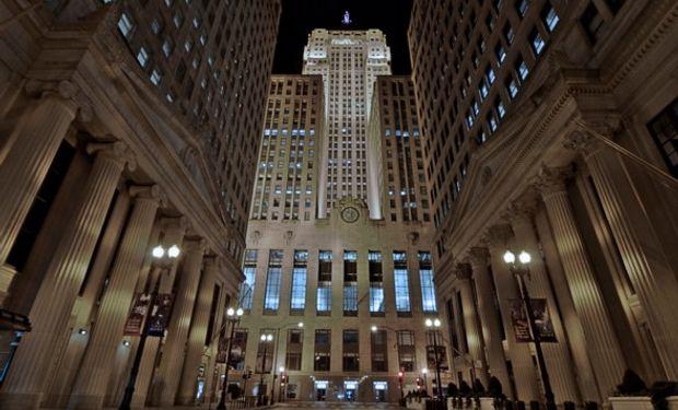Subas generalizadas en el mercado de Chicago.