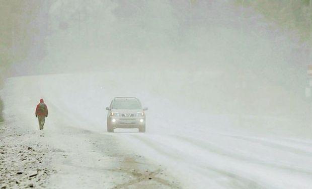 Varias ciudades del sur amanecieron ayer cubiertas de blanco.