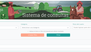 Una aplicación en línea permite consultar todos los datos del Censo Agropecuario de 2018