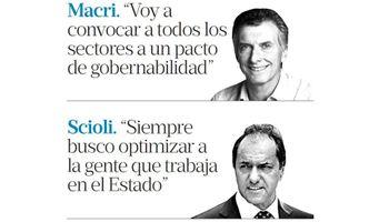 Gobernabilidad y economía, ejes de los cierres de Macri y Scioli
