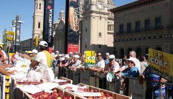 Españoles, en protesta por el embargo ruso