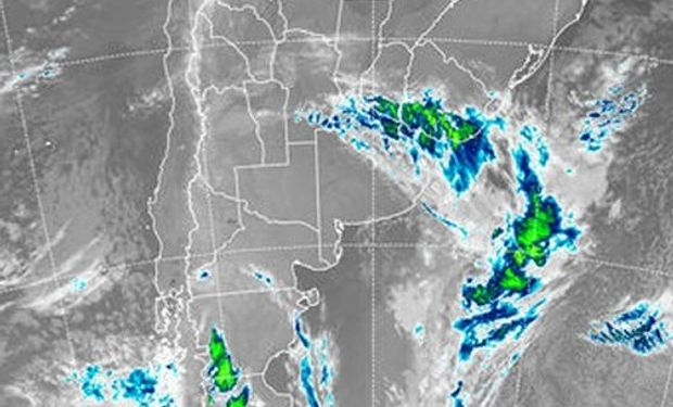 Imagen satelital, clima CCA.