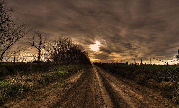 Camino rural de la provincia de Buenos Aires. Foto: Ricelli