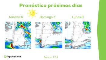 El pronóstico del clima anticipa un fuerte avance de la cosecha