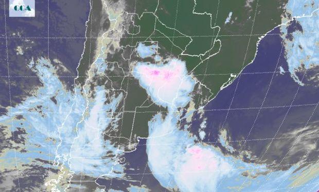 Nubosidad que se observa en la imagen satelital.