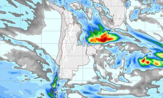Mapa de Precipitaciones para el 1° de junio.