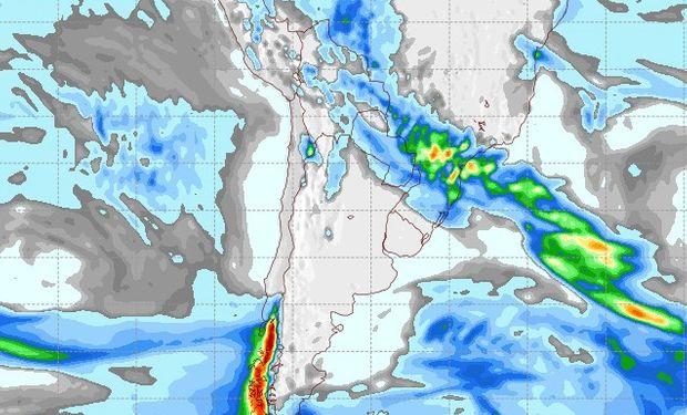 Pronóstico de precipitaciones para martes 6 de junio.