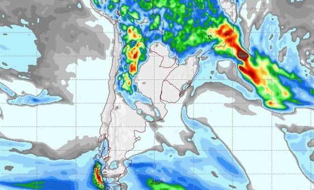 Pronóstico de precipitaciones para el 31 de enero de 2017.