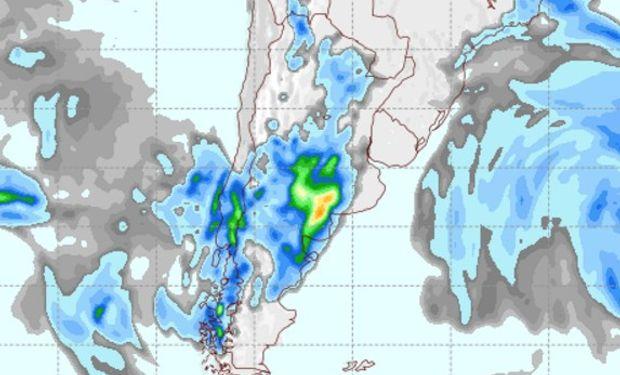 Pronóstico de precipitaciones para el viernes.