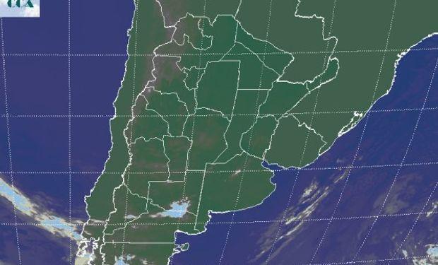 En la imagen satelital se refleja la condición de estabilidad.