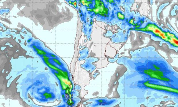 Pronóstico de lluvias para el miércoles 8 de marzo.