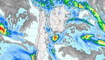 Probabilidad de lluvias sobre algunas regiones