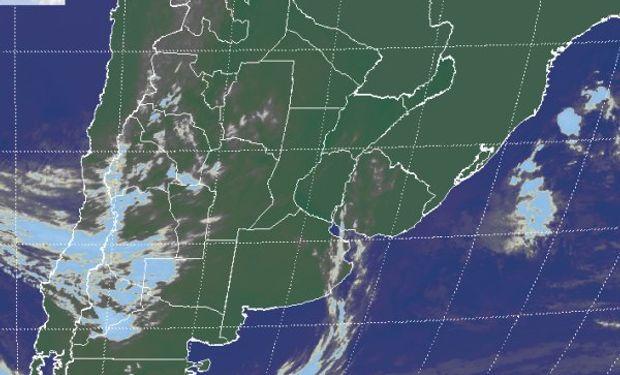 La imagen satelital no presenta coberturas nubosas significativas.