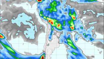 Probabilidad de lluvias sobre regiones del norte