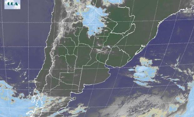 Nubosidad que presenta la imagen satelital está instalada hacia el NOA.